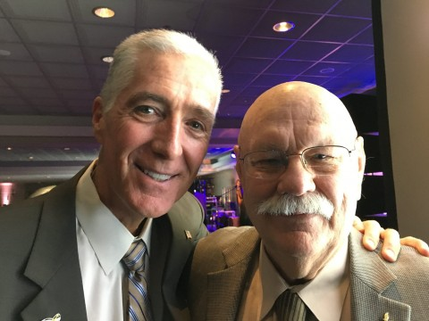 Chief Bobby Halton, Editor In Chief of Fire Engineering magazine (Left) and Chief Ronny J. Coleman (Right)