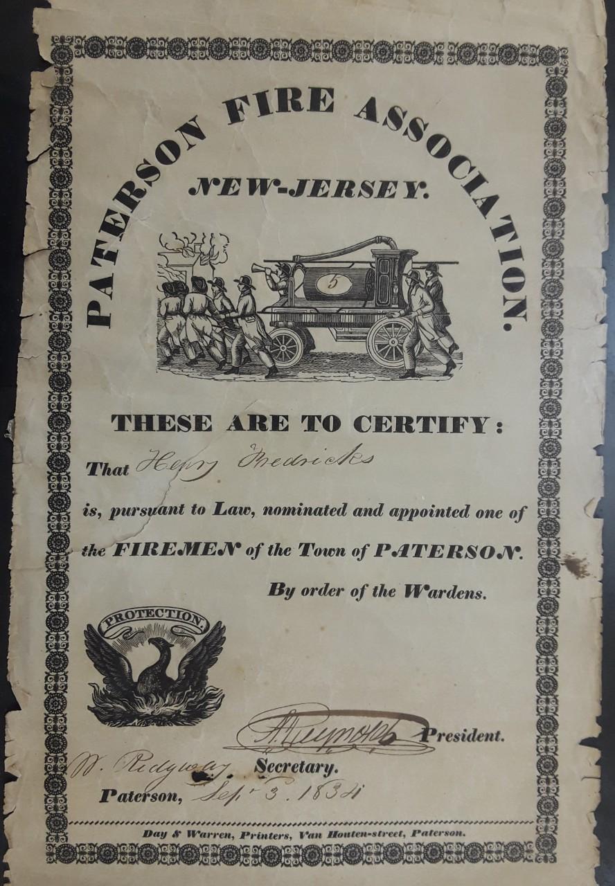 Certificate (C. 1832)