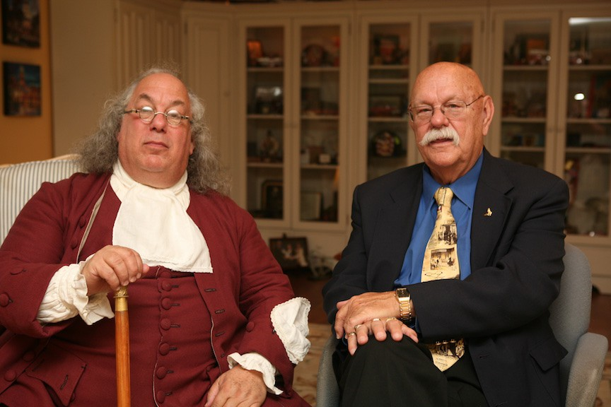 Benjamin Franklin with Chief (Ret.) Ronny J. Coleman
